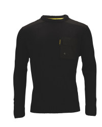 Men's Crew Neck Pullover - Black