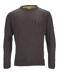 Men's Crew Neck Pullover - Charcoal