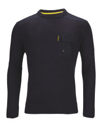 Men's Crew Neck Pullover - Navy