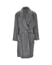 Men's Dressing Gown Grey Marl