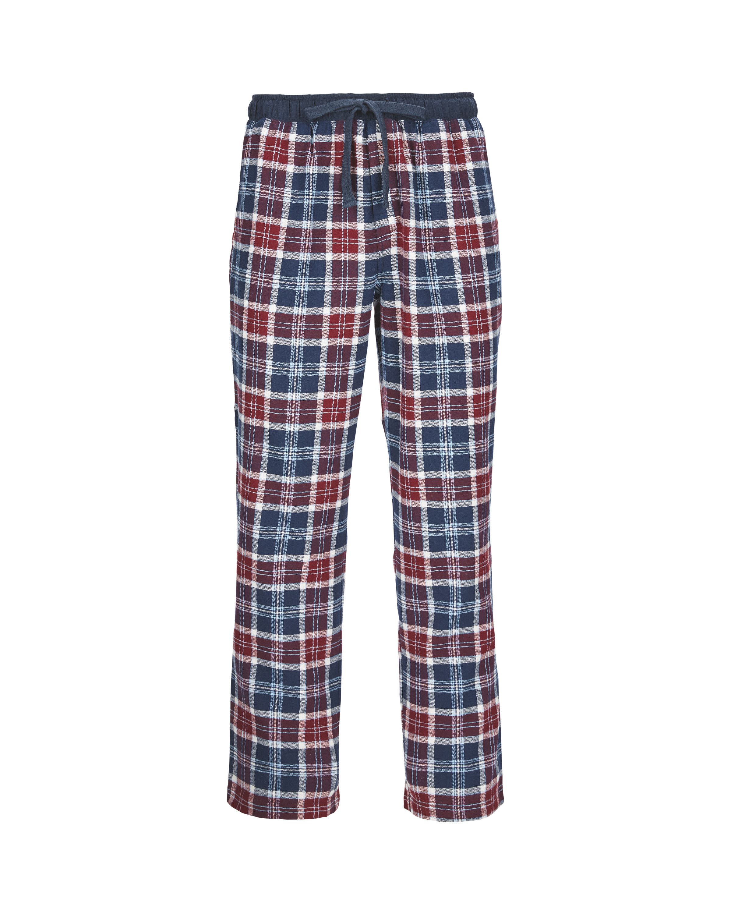 9a9619b2f12 Men s Flannel Lounge Pants Navy Red - ALDI UK