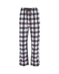Men's Flannel Pants Navy/White