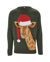 Avenue Mens Giraffe Christmas Jumper