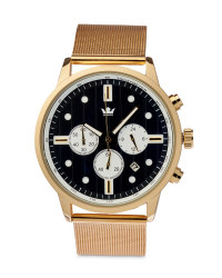 Men's Gold Watch with Black Dial