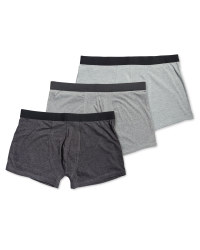 Men's Avenue Grey 3-Pack Hipsters