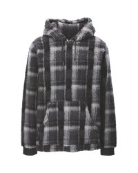 Men's Grey Check Hoody