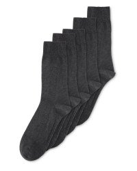 Men's Grey Cotton Socks 5 Pack