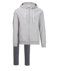 Avenue Men's Grey Homewear Suit