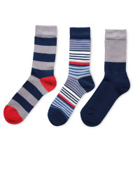 Men's Grey Mixed Bamboo Socks 3-Pack
