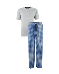 Men's Grey T-Shirt and Lounge Pants