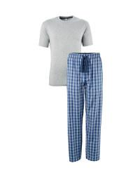 Men's Grey T-Shirt and Lounge Pants