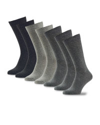 Men's Grey Socks 7-Pack