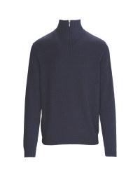 Men's Half-Zip Sweater Blue