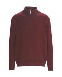 Men's Half-Zip Sweater Bordeaux