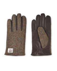 Men's Tweed/Leather Gloves