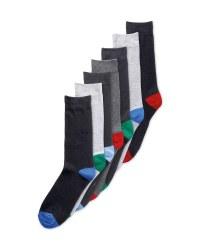Men's Heel & Toe Socks 7 Pack