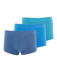 Men's Blue Hipsters 3 Pack