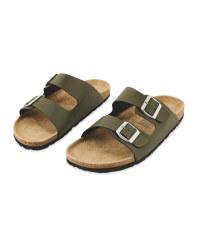 Men's Khaki Footbed Sandals