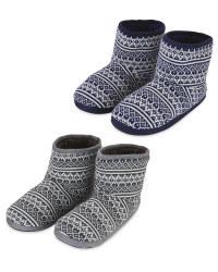 Men's Knitted Slipper Boots