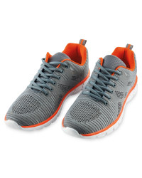 Men's Knitted Trainers - Charcoal