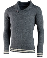 Men's Lambswool Collared Pullover