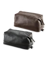 Avenue Men's Leather Washbag