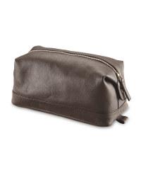 Avenue Men's Leather Washbag - Brown