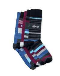 Men's Logo Novelty Socks - 5 Pack