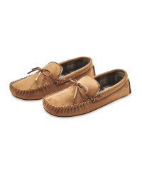 Avenue Men's Moccasin Slippers - Tan