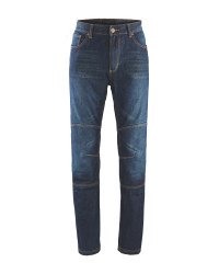 Crane Men's Motorcycle Jeans - Blue