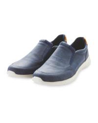 Mens Navy Comfort Slip On Shoes