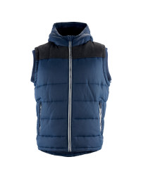 Men's Navy Hooded Gilet