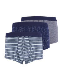Men's Navy Mix Hipsters 3 Pack