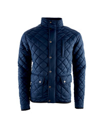 Men's Navy Quilted Winter Jacket