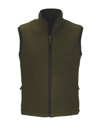Crane Olive Men's Fleece Gilet