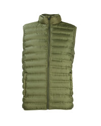 Men's Olive Quilted Gilet