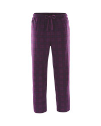 Men's Open Cuff Lounge Pants - Plum