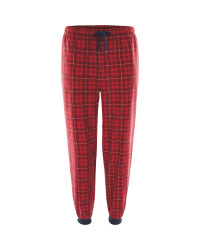Men's Open Cuff Lounge Pants - Red