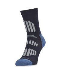 Crane Men's Outdoor Socks - Blue/Grey