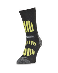 Crane Men's Outdoor Socks - Grey/Lime
