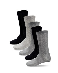 Men's Plain Cotton Rich Socks - Grey