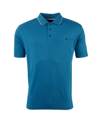 Men's Polo Shirt with Pocket - Blue