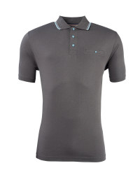 Men's Polo Shirt with Pocket - Grey