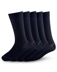 Men's Premium Modal Socks (5 Pack) - Black/Multi