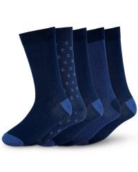 Men's Premium Modal Socks (5 Pack) - Navy