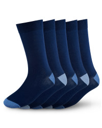 Men's Premium Modal Socks (5 Pack) - Navy/Blue