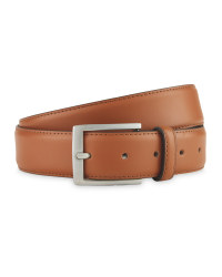 Avenue Men's Tan Leather Belt