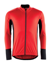 Men's Red Full-Zip Cycling Jersey