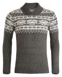 Men's Shawl Neck Nordic Wool Jumper