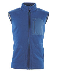 Men's Sherpa Gilet - Blue